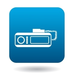 Radio taxi icon in flat style vector image