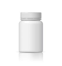 realistic plastic bottle vector image