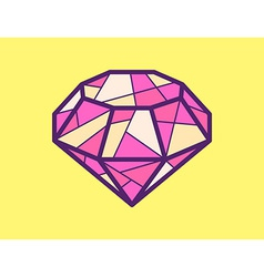 red ruby on yellow background vector image