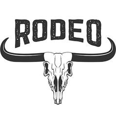 Rodeo Buffalo skull isolated on white background vector image