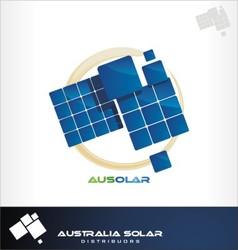 australia solar logo vector image