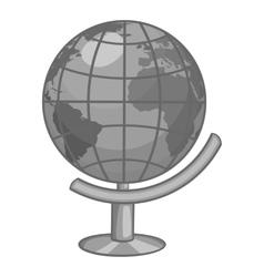Globe icon gray monochrome style vector image vector image