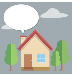 House Bubble Talk vector image vector image