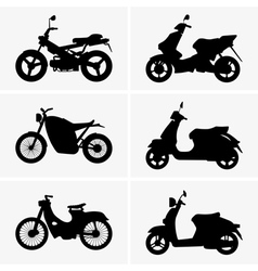 Motorbikes and scooters vector image vector image