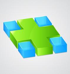 Abstract web green cross vector image vector image