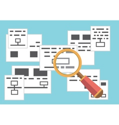 Concept of search page with information vector image vector image