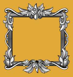 decorative victorian vintage baroque art engraved vector image