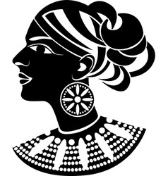 Female profile in african style vector image