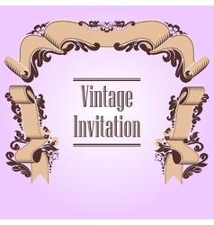 invitation and ribbon vector image