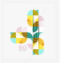 minimalistic circle composition background vector image