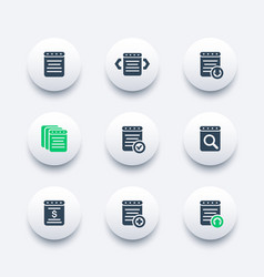 reports document account icons vector image