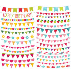 Colorful birthday and party decoration vector image