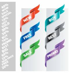 corner ribbons for text vector image