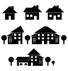 Estate black silhouettes vector image vector image