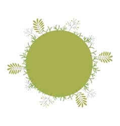 Green world with leaves and plants vector image