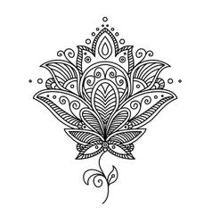 Persian paisley design vector image vector image