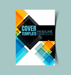 abstract report cover 25 vector image