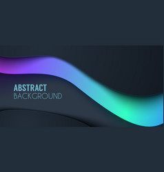 abstract waved background fluid shapes vector image