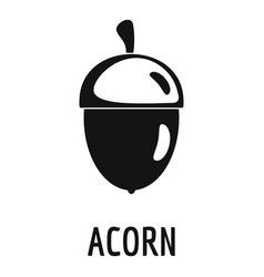 acorn icon simple style vector image