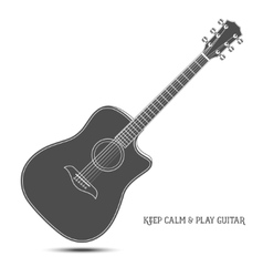 Acoustic guitar isolated Keep calm and play vector image