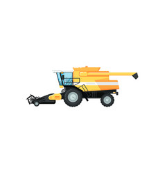 Agriculture combine harvester vector