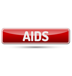 Aids - abstract beautiful button with text vector