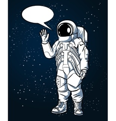 Astronaut in space suit hand drawn style vector image
