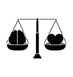 Balance with heart and brain vector