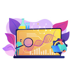 Biotechnology concept vector