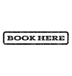 Book here watermark stamp vector
