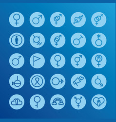 Bundle twenty five gender symbols sexual vector