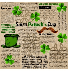Celtic background with clover vector image