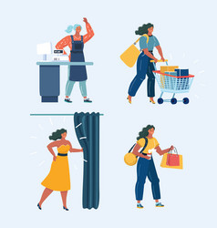 consumer set vector image