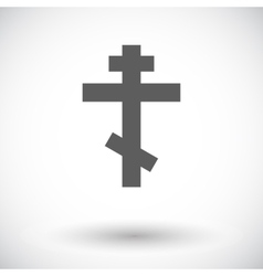 Cross single flat icon vector
