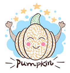 cute pampkin idea for print t-shirt vector image