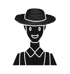 Design farmer and man logo set vector