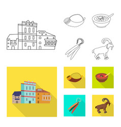 Design of culture and sightseeing icon set vector