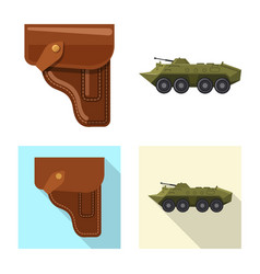 design of weapon and gun symbol collection vector image