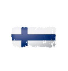Finland flag on a white vector