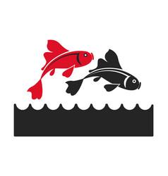 fish koi chinese animal asian decorative image vector image