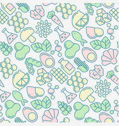food intolerance seamless pattern vector image