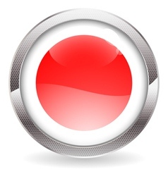 Gloss Button with Japan Flag vector image
