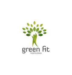 green fit logo vector image