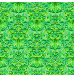Green polygonal seamless abstract floral pattern vector