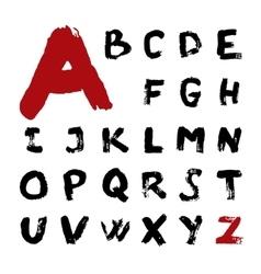 grunge brush alphabet vector image