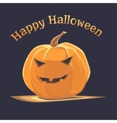 Halloween emoticon face pumpkin vector image