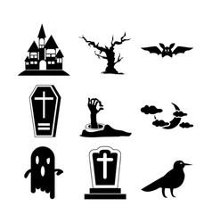 halloween set icon vector image