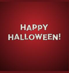 Happy halloween greeting card mummy bandage font vector