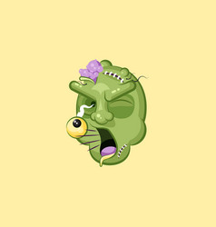 head terrible facial expression zombie yelling vector image