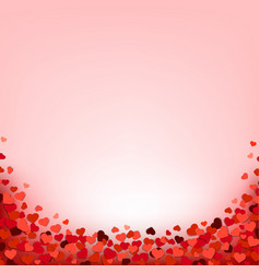 hearts border with pink background vector image